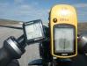 Arthur v. d. Lee met zijn M5 Low Racer aangekomen op gloeiend hete (32 graden!!) Noordkaap.