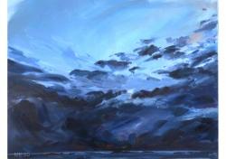 Tentoonstelling schilderijen Bram Moens: 'Noordse luchten' - 7 december t/m 8 februari in
