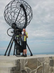Arthur van der Lee allready reached Norways Northcape