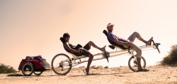 Recumbent tandem more & more popular