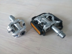 From heavy duty dual function SPD pedal to lightweight version in only half an hour