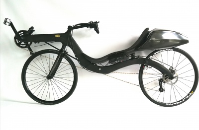 M5 Carbon High Racer with the worlds lightest (1.7 kg) electrical support, and that is including battery