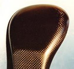 Light weight carbon headrest